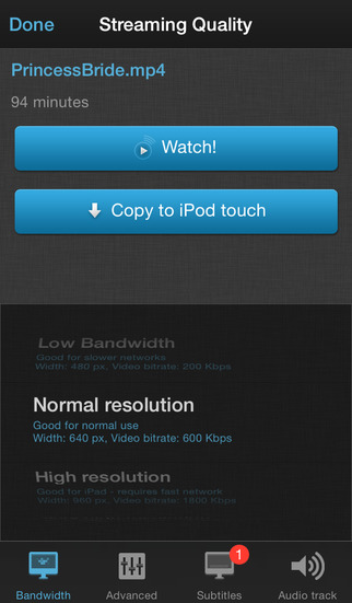 Splive Player para iPhone